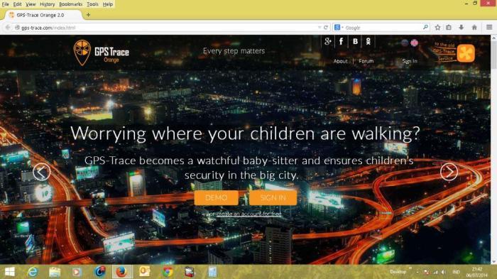 web tracking gps trace orange baru